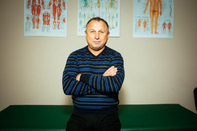 Владимир Гламазда в центре остеопатии