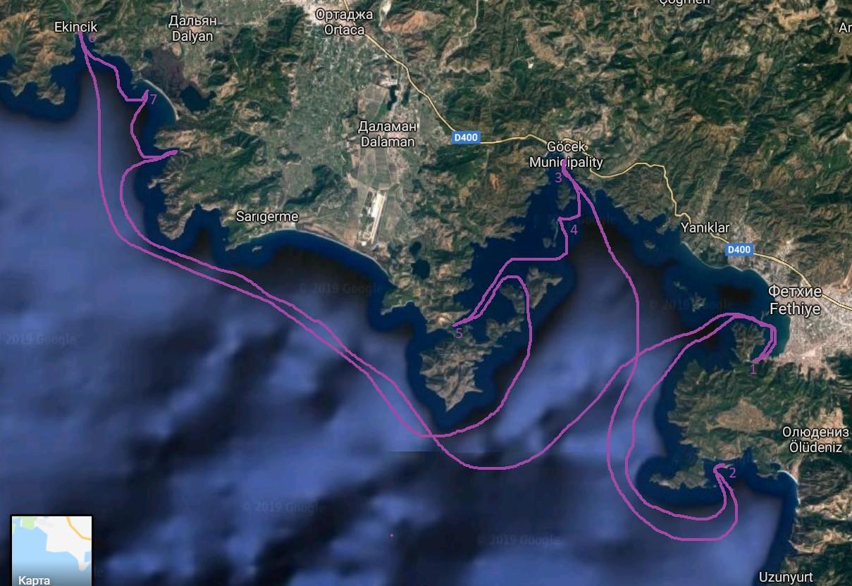 общий маршрут яхт-тура